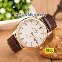 Đồng hồ nam dây da cao cấp chống nước DH28W