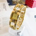 Đồng hồ Nữ Guess mặt vuông dây vuông D0218-DHA071 - Kim Quay - Vàng
