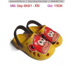 Dép sục SK91 - Hình Khỉ Màu Vàng