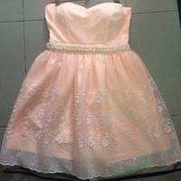 Đầm cúp ngực eo ngọc ren nổi-thiết kế cao cấp