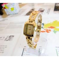 Đồng hồ Nữ Guess mặt vuông dây hình G D0221-DHA074 - Kim Quay - Vàng