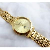 Đồng hồ Nữ Burberry mặt tròn họa tiết vuông D0220-DHA073 - Vàng