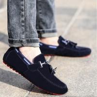 Giày lười da lộn đuôi chuông Glado - G46