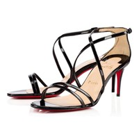 Giày cao gót dây mảnh Louboutin đen-GX223