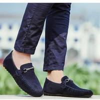 Giày lười da lộn nam thời trang Glado - G48