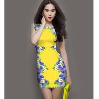 Đầm body in hoa CS275