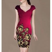 Đầm body in hoa CS274