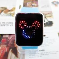 Đồng hồ Cái Mickey Led D0266-DHA095 - Xanh dương