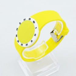 Đồng hồ Led nữ dây nhựa mặt tròn thời trang