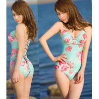 Bộ bơi bikini nữ họa tiết hoa dễ thương, nữ tính, quyến rũ-DB036