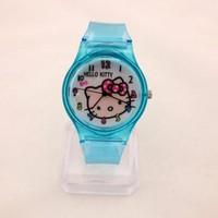 Đồng hồ Nữ Hello Kitty dây trong D0268-DHA096 - Kim Quay - Xanh biển