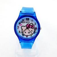Đồng hồ Nữ Hello Kitty dây trong D0272-DHA096 - Kim Quay - Xanh dương