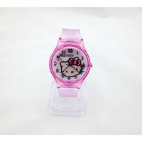 Đồng hồ Nữ Hello Kitty dây trong D0270-DHA096 - Kim Quay - Hồng