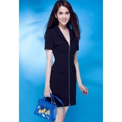 Đầm vest đen công sở Ngọc Trinh D232