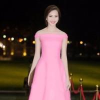 HÀNG THIẾT KẾ - Đầm Xòe Trễ Vai Thu Thảo
