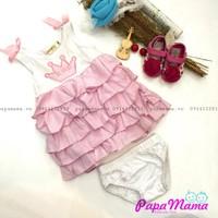 BB056 - váy tầng hồng kèm quần chip