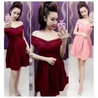 Đầm ren bẹt vai ngoc lang phuong