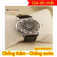 Đồng hồ nam dây da giả cơ cao cấp Kings KNS01W