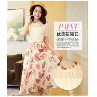 Đầm voan chân váy hoa in cao cấp