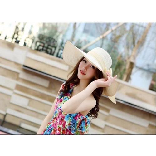 Nón mũ rộng vành thời trang đi biển mùa hè mới chống tia UV  K79HKCL009