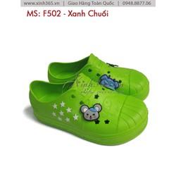 Giày nhựa cho bé  - F502 - Xanh Chuối