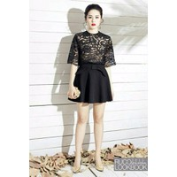 HÀNG NHẬP CAO CẤP - Set áo ren chân váy xòe