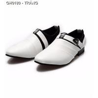 Giày nam dạo phố hàn quốc Mã: GH0180 - TRẮNG