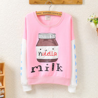 shop cún - hàng hót- áo thun hàn quốc tay dài milk siêu cute