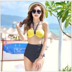 Set Bikini 2 mảnh cạp cao Hàn Quốc BH813
