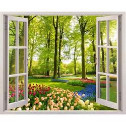 Tranh dán tường cửa sổ 3D CS-0033