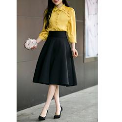 Chân váy Đen xòe vintage