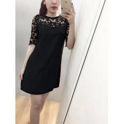 Đầm Suông Phối Ren Hoa Duyên Dáng