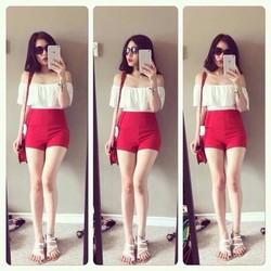 hotgirl 492 set áo trắng