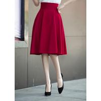 Duyên dáng cùng chân váy xòe vintage Đỏ