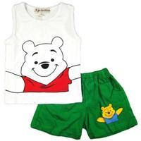 Bộ gấu Pooh quần thun trắng BH297