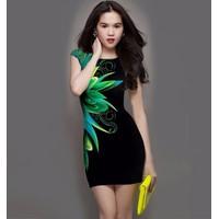 Đầm body in hoa CS262