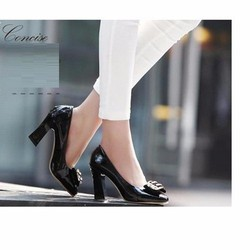 Giày búp bê 10 phân nơ đính pha lê size 38