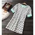Đầm shirt dress chấm bi cá tính Mã: DA3798 - HỒNG