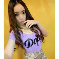 áo thun crop top dope Mã: AX2384 - TÍM