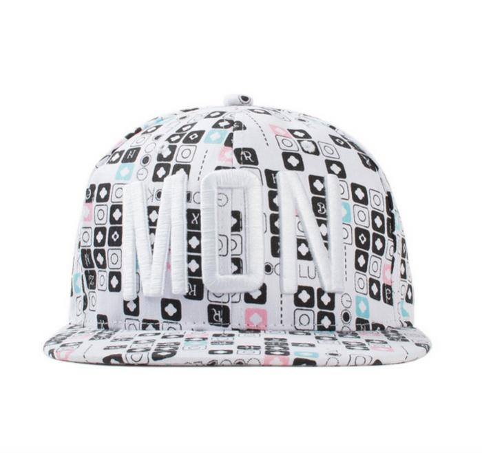 Nón Snapback Vải màu trắng N94-T 2
