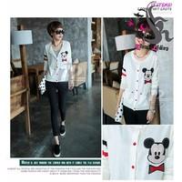 Áo Khoác Nữ Logo Mickey WAK212 Trắng - Kim Liên 100