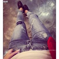 Quần jeans nữ skinny rách Mã: QD646