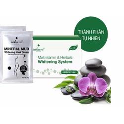Kem tắm trắng Sakura Multivitamin, Herbals Whitening System