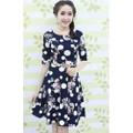 Đầm in họa tiết bi hoa thời trang  LV683