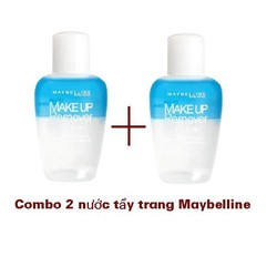 Bộ 2 Nước Tẩy Trang Mắt & Môi Maybel.l.i.n.e Makeup Remover Eye & Lip - 40ml x 2.