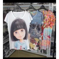 Áo thun nữ hình cô gái cute Mã: AX2444