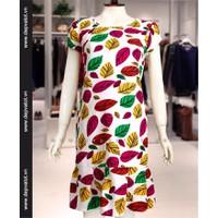 Đầm bầu công sở Sắc màu cùa lá