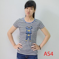 Áo thun nữ sọc kute AS04
