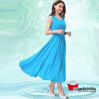 Đầm Maxi xanh