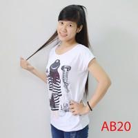 Áo thun nữ form rộng hình cô gái AB20